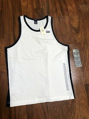 a4be126f8c974a Abercrombie Fitch men s muscle tank top Gym Issue Active Bruce Weber Rare  New M