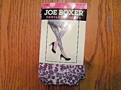 Joe Boxer footless fashion tights Zebra striped Women/'s size S//M