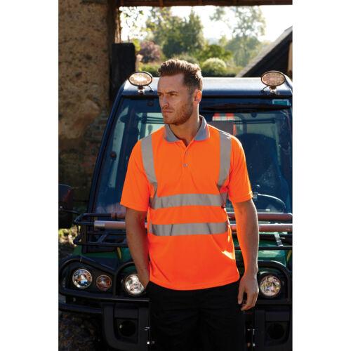 Warrior Daytona Hi-Vis Visibility Work Polo Short Sleeve T-Shirt Security Safety