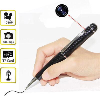 1080P HD Mini Spy Pen Camera 5MP Hidden Camcorder DVR Video Recorder 8GB Tiny