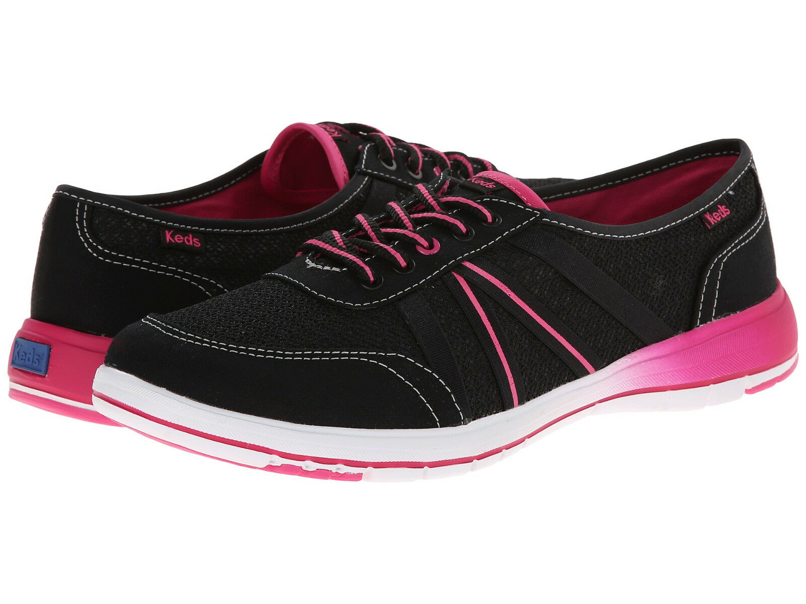 Keds Women's Fuse Black   Pink Comfort Sneakers - Assorted Sizes