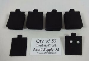 1-5-034-x-1-75-034-Black-Plain-Felt-Puffed-Earring-Cards-Hold-Qty-50