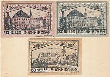 Buchkirchen (OÖ) -Gemeinde- 10 H, 20 H und 50 Heller (JP 114 a)