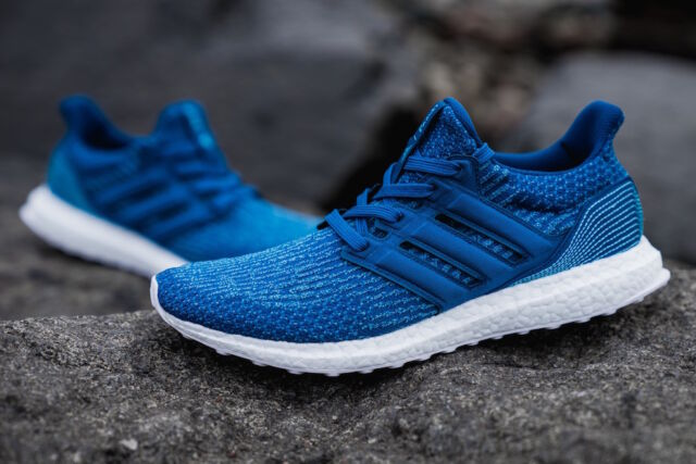detailed look d6766 aa3d6 Adidas Ultra Boost 3.0 10.5 UK x Parley Blue Men Trainers Running Core  BB4762 10