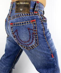 True-Religion-329-Men-039-s-Billy-Bootcut-Super-T-Brand-Jeans-MDABK622W