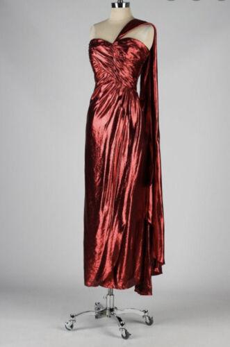 Rare Vintage VICTOR COSTA 1980s Metallic Red Jessi