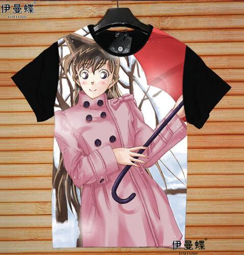 Cosplay Detective Conan Anime Manga T-Shirt Kostüme Schwarz Polyester Neu