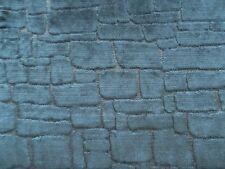 Harlequin Curtain Fabric ASCENT 0.43m Black - Mosaic Cut Velvet Design 43cm