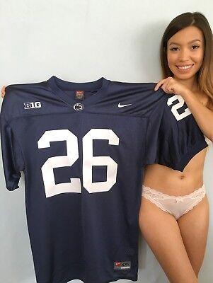 new style 5fe03 0fb12 Saquon Barkley authentic Nike blue 2016 Penn State stitched pro cut jersey  NEW | eBay