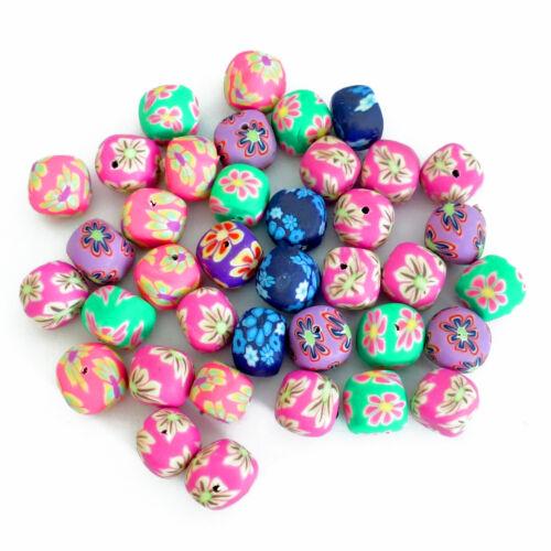 9-11mm Mix nuggets multicolor a mano nenad-Design r182 30 perlas Fimo aprox
