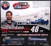 Lionel T4828 O Scale Jimmy Johnson 48 Nascar Electric Rtr Train Set W/ Transfor on sale