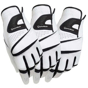 New-TaylorMade-2015-Stratus-Sport-Leather-White-Golf-Gloves-3-Pack-Pick-Size