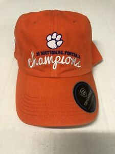c7a44eac TOP OF THE WORLD CLEMSON TIGERS 3X NATIONAL CHAMPIONS ORANGE SLOUCH ...