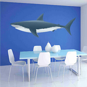 Colorful-Shark-Wall-Decal-Wall-Sticker-Home-Decor-Wall-Mural
