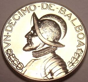 Rare Proof Panama 1968 1//4 Balboa~Only 23,210 Minted~Awesome~Free Shipping