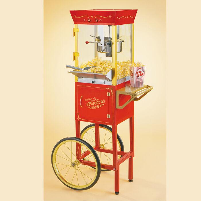 Nostalgia Electrics Old Fashioned Movie Time 53  Popcorn Cart (ccp510)