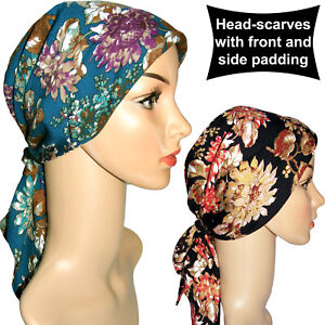 front /& side padding Headwear for chemo patients Headscarf with easy fastening