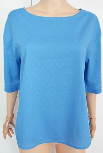 New-Ex-Seasalt-size-8-20-Little-Wren-Blue-Light-Cotton-Summer-Dot-Top-Blouse