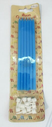 12 PZ candeline candles candele rosa o blu lunghe 15 cm party compleanno festa
