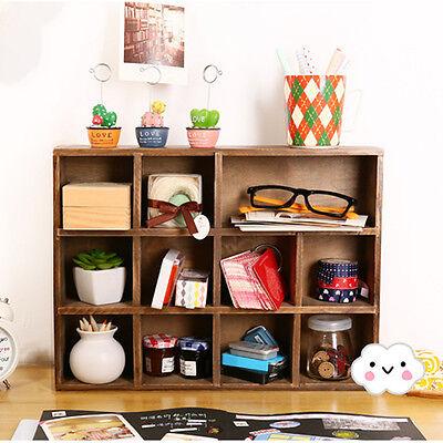 Retro Vintage Wood Cabinet Perfume Display Storage Hanging Wall Shelf Organizer