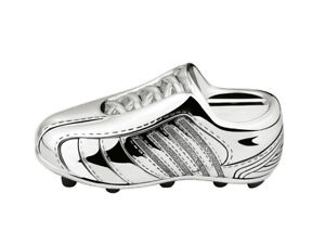 Silver-Plated-Football-Boot-Money-Box-Bank-Christening-Baby-Gift-FREE-ENGRAVING