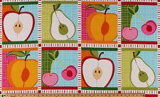 "23.75"" X 44"" Panel Metro Market Fruit Summer Cotton Fabric Panel D481.11"