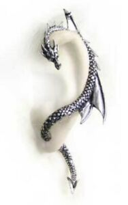 Alchemy-Gothic-Pewter-Dragon-039-s-Lure-Earring-Left-Ear-Wrap