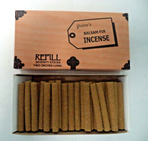 Paine S Balsam Fir Incense Bulk 70 Stick Log Refill Box