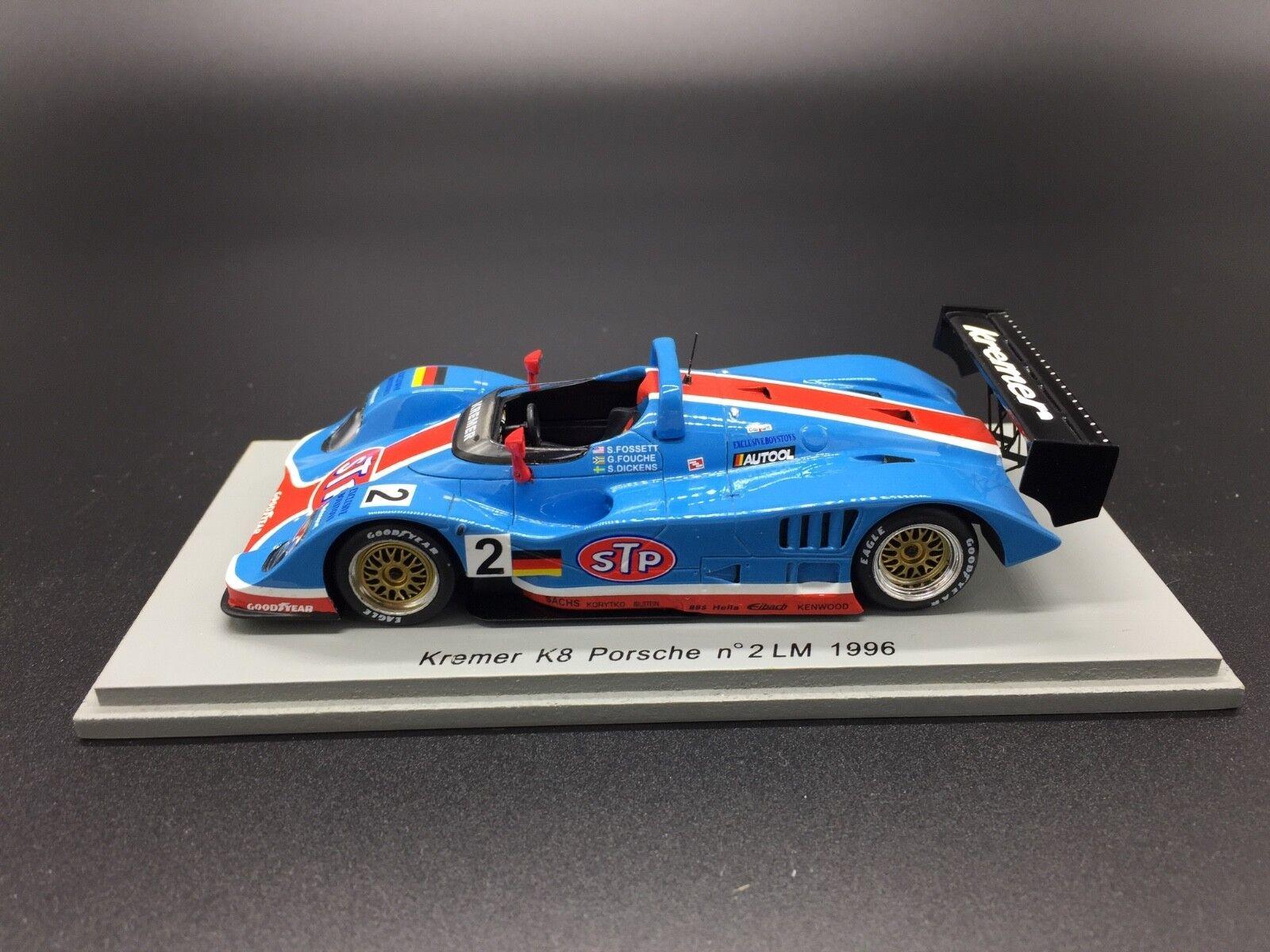 Spark S0326 1/43 Kremer K8 Porsche Gulf #2 Le Mans 1996