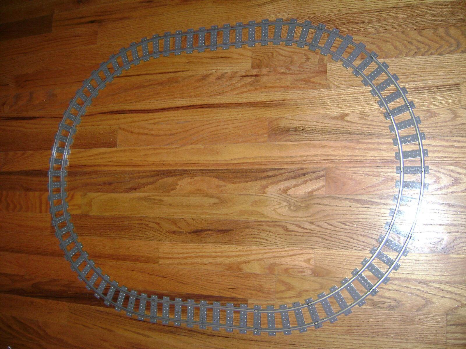 Lego Lote De 20 pistas de tren 9V Curved Straight Perfecto Estado