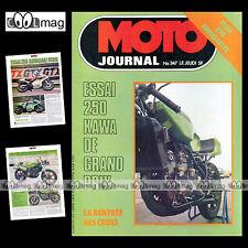 MOTO JOURNAL N°347 ANDRE MALHERBE DIDIER DUFLOS KAWASAKI KL & KR 250 1978