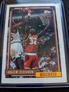 1992-93-Topps-Hakeem-Olajuwon-337-Houston-Rockets-Pack-Fresh-GEM-MInt