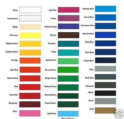 A4 Sheet Of Self Adhesive GLOSS FINISH Vinyl Colour Sign Making Vinyl Craft