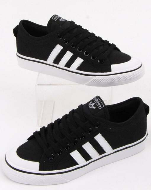 black adidas nizza trainers