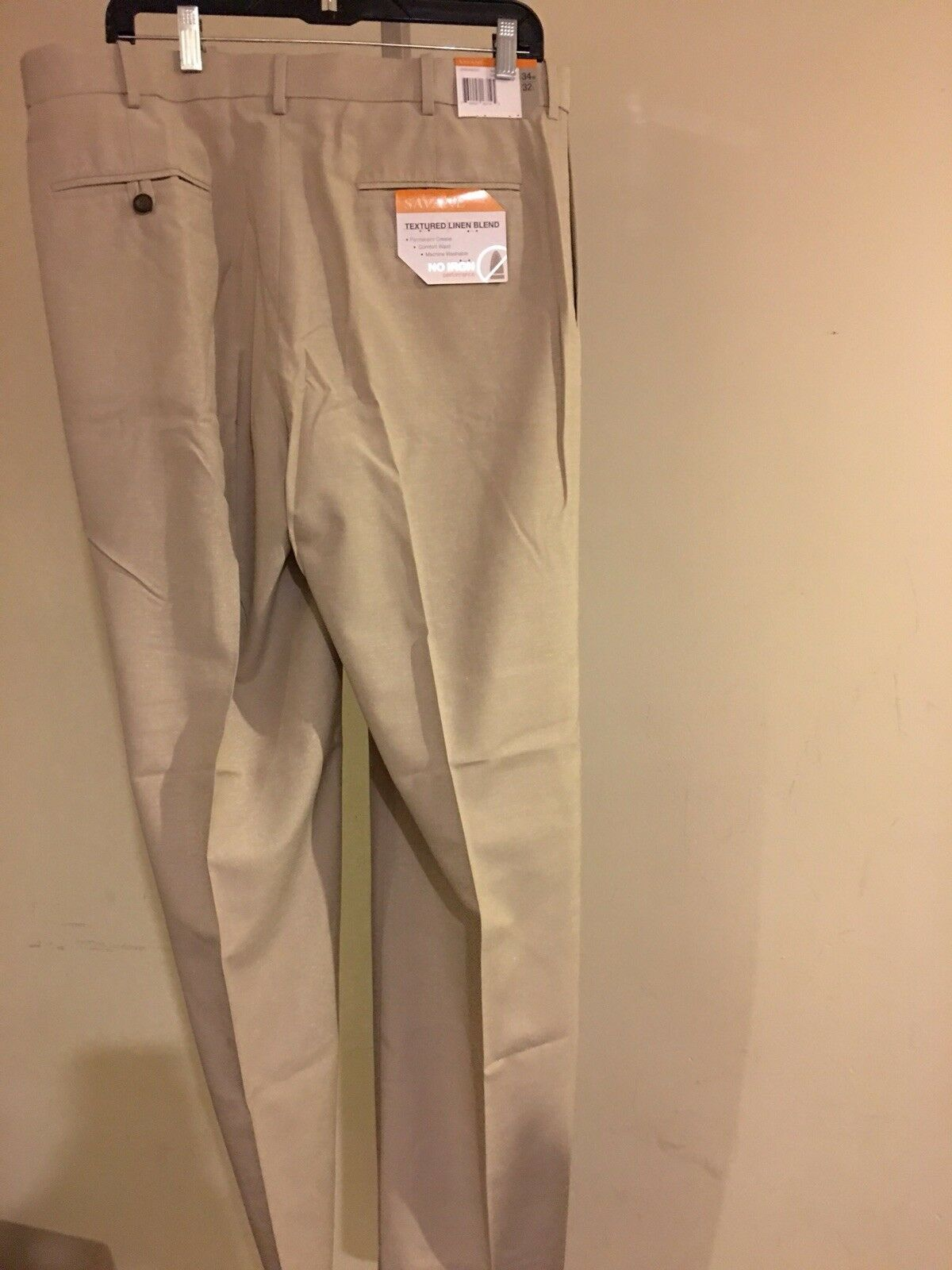 Savane Men's Performance Linen Pants Natural 34W x 32L
