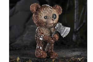 Miniature Teddy Bear with Ax Pick Fairy Faerie Gnome Hobbit Garden 17321