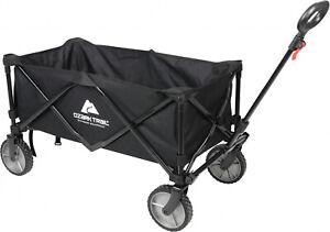 Wagon-Cart-Folding-Collapsible-Garden-Beach-Utility-Outdoor-Buggy-Camping-Black