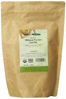 Davidson`s Tea Bulk, Organic Hibiscus Flowers Cut And Sifted, 16-ounce Bag ,