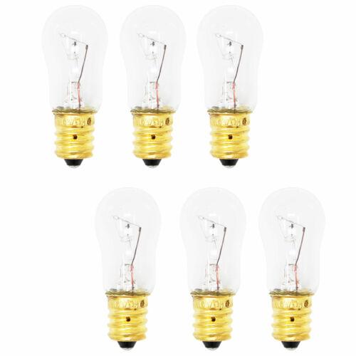 GSS25SGMDBS GSS25JFMCWW 6-Pack Light Bulb for GE HSS25GFPAWW GSL25JFTABS