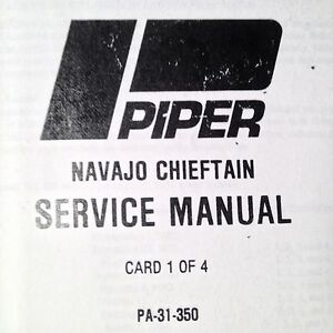 piper navajo chieftain pa 31 350 service manual ebay rh ebay com Piper Navajo Fuel Burn Piper Navajo Aircraft