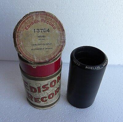 2-Min-Wax-Cylinder-Phonograph-Record-Edison-DIXIELAND-Sousa´s Band-RAGTIME