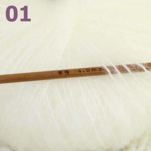 Sale 8SkeinsX25gr Soft Lace Crochet Acrylic Wool Mohair Wrap Hand Knit Yarn 01