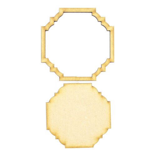 Frame and Panel 36 Wooden 3mm MDF Laser Cut Craft Blank Scrapbook Topper