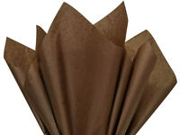 Espresso Brown Tissue Paper For Gift Wrapping 15x20 Sheets Eco-friendly