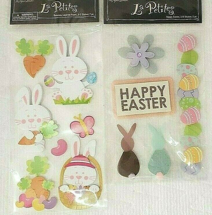 EASTER wall stickers seasonal bunny rabbit eggs birds floral grass decal vinyl