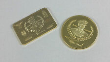 1 oz 999 gold plated coin + bullion German Reich Armed forces Erwin Rommel