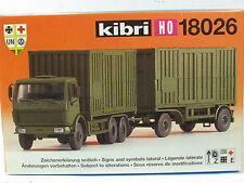 Kibri H0 18026 Mercedes-Benz mit C 20 Container OVP (D1353)