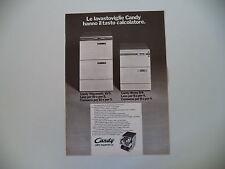 advertising Pubblicità 1970 LAVASTOVIGLIE CANDY STIPOMATIC 10/5 - BRAVA 8/4