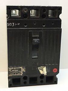 GE TED134090 90-Amp 3-Pole 480-Volt Circuit Breaker 90A 3P 480VAC