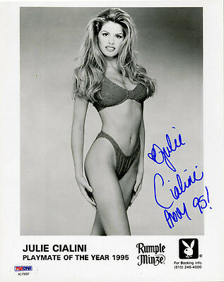 Photographs Pmoy 95 Playboy Playmate Psa/dna Autographed Entertainment Memorabilia Impartial Julie Cialini Signed 8x10 Photo